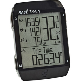 Cube Race Train Cycle Computer Set black